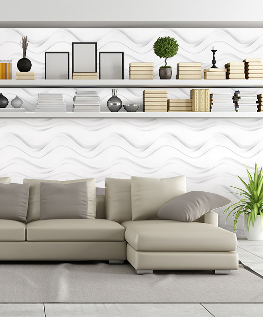 Peel Amp Stick 3d Wall Panel Wave Design 12 Panels 32sf
