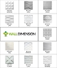 Wall Dimension 3D Wall Panel Sample - 1 Panel