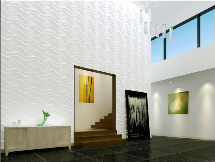 Peel& Stick 3D Wall Panel - Wave Design. 12 Panels. 32sf