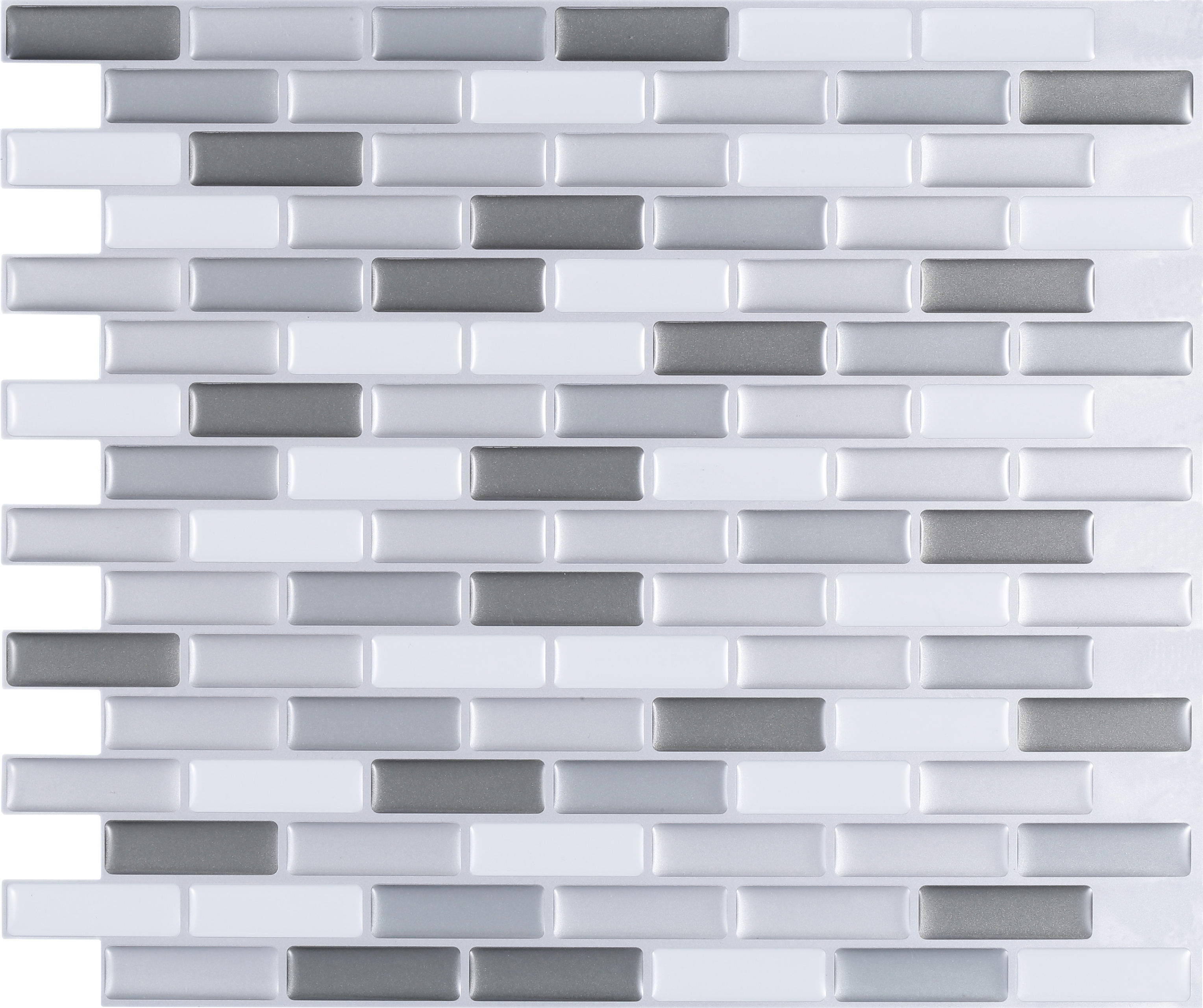 Peel stick 3d mosaic tile wm 108c for 3d peel and stick wallpaper