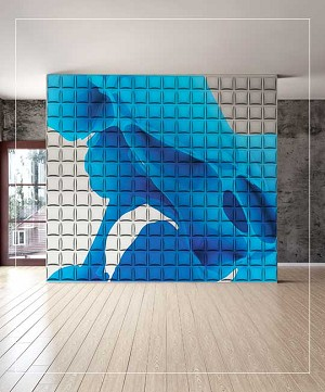 3D Wall Panel - FABRIC | P/N WD-033C - 12 Panels