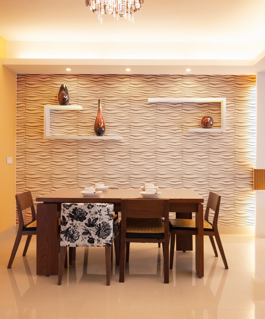 GAPLESS WAVE Design Durable Plastic 3D Wall Panel 12 Panels Easy Peel And Stick 32 SF Wall Dimension WD-007C