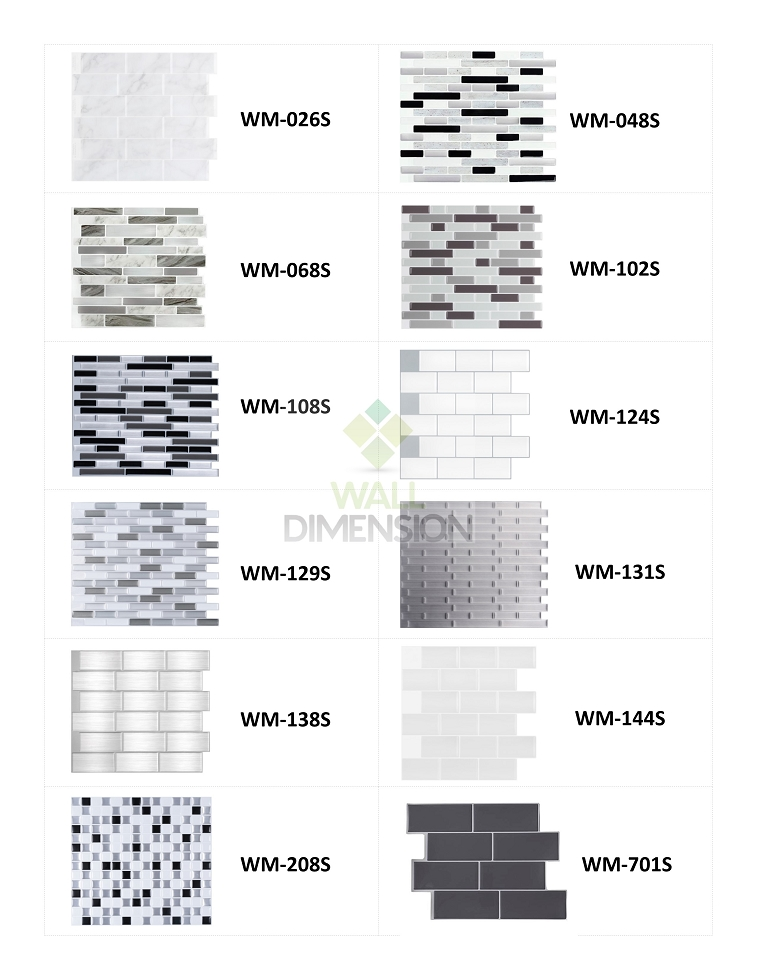 Wall Dimension 3D Vinyl Wall Tile Sample - 1 Sheet